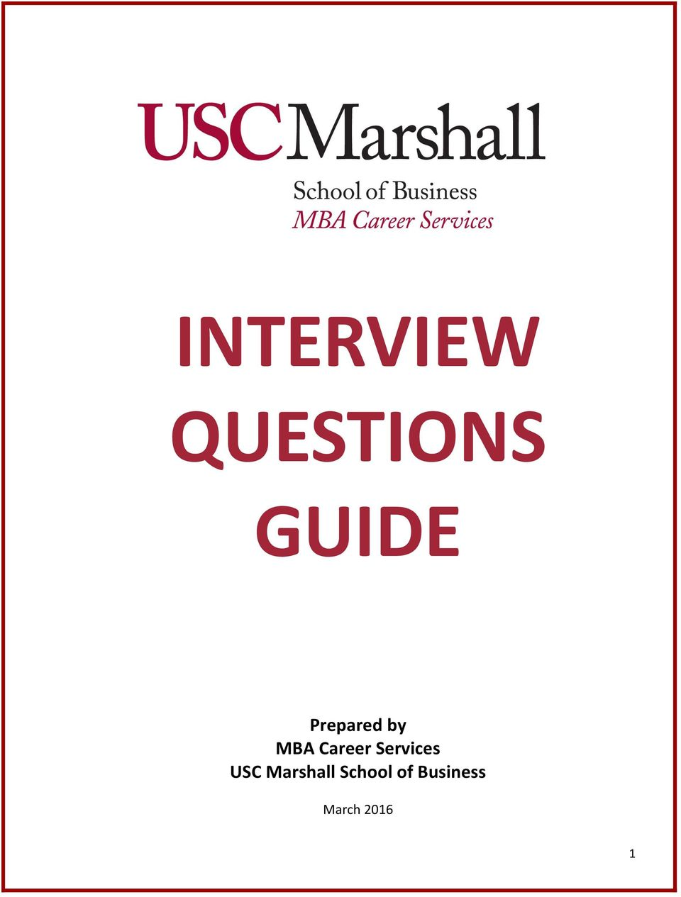 Services USC Marshall