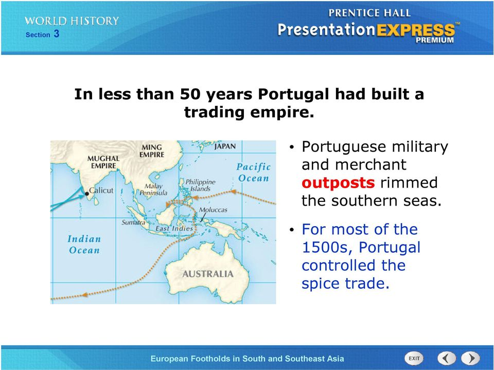 Portuguese military and merchant outposts