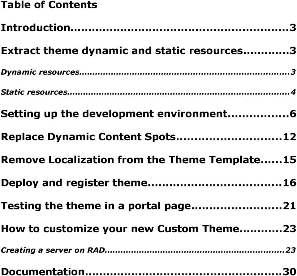 ..12 Remove Localization from the Theme Template...15 Deploy and register theme.