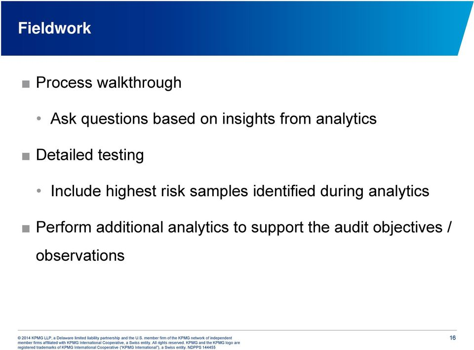 risk samples identified during analytics Perform