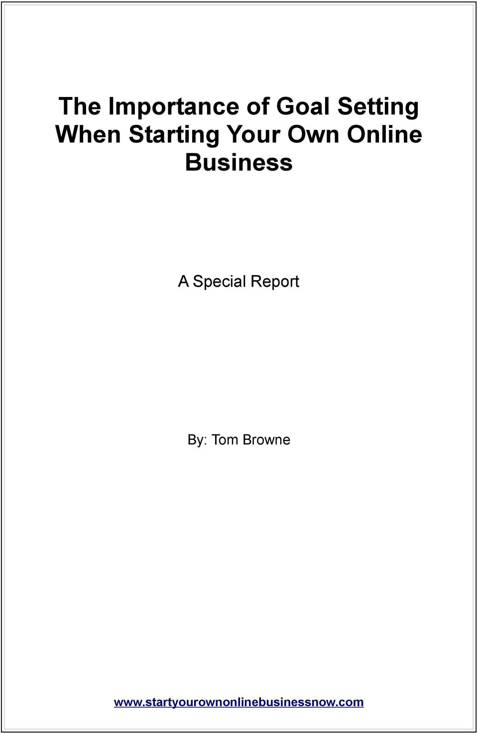 Your Own Online Business