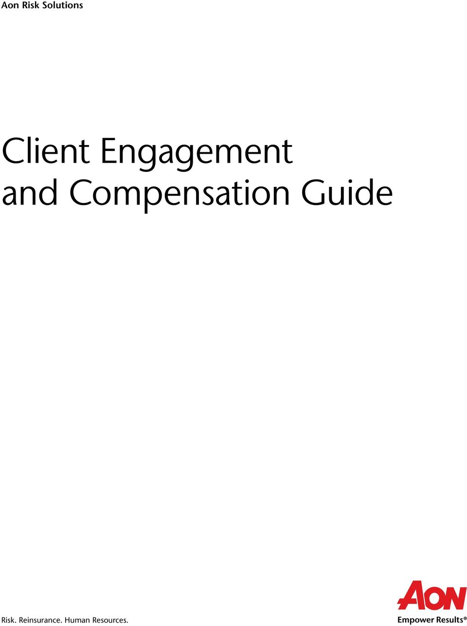 Compensation Guide Risk.