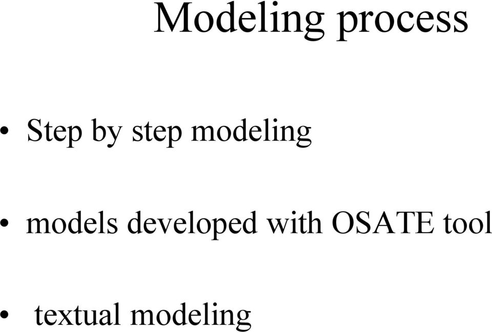 models developed with