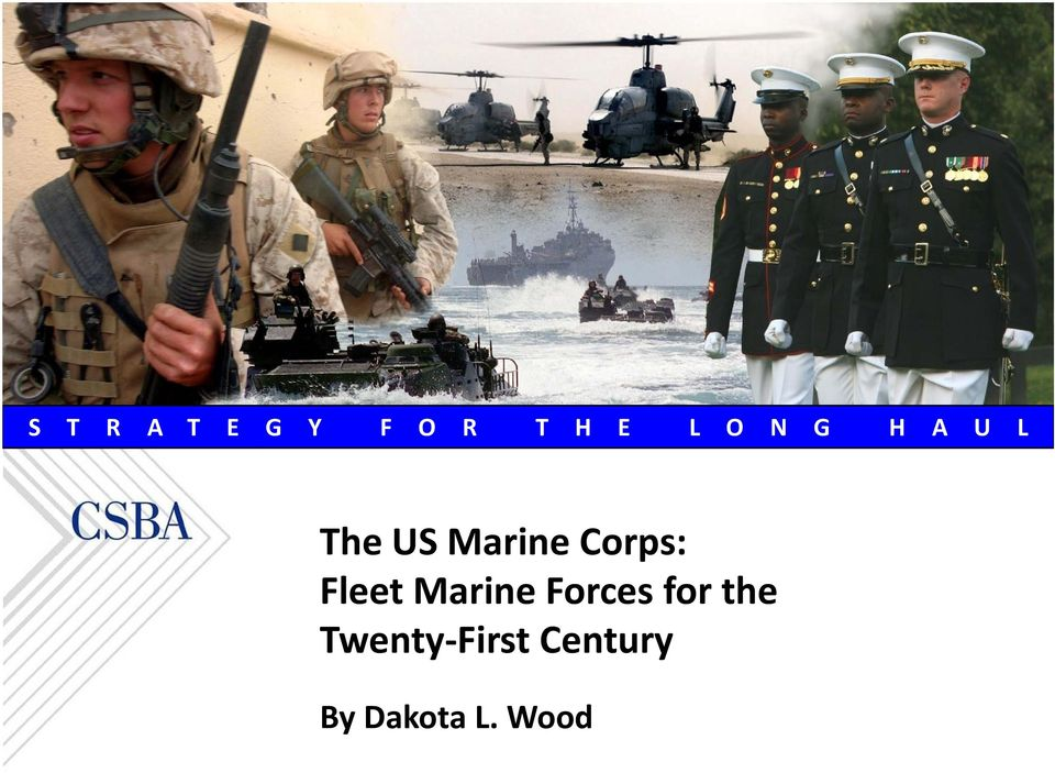 Fleet Marine Forces for the