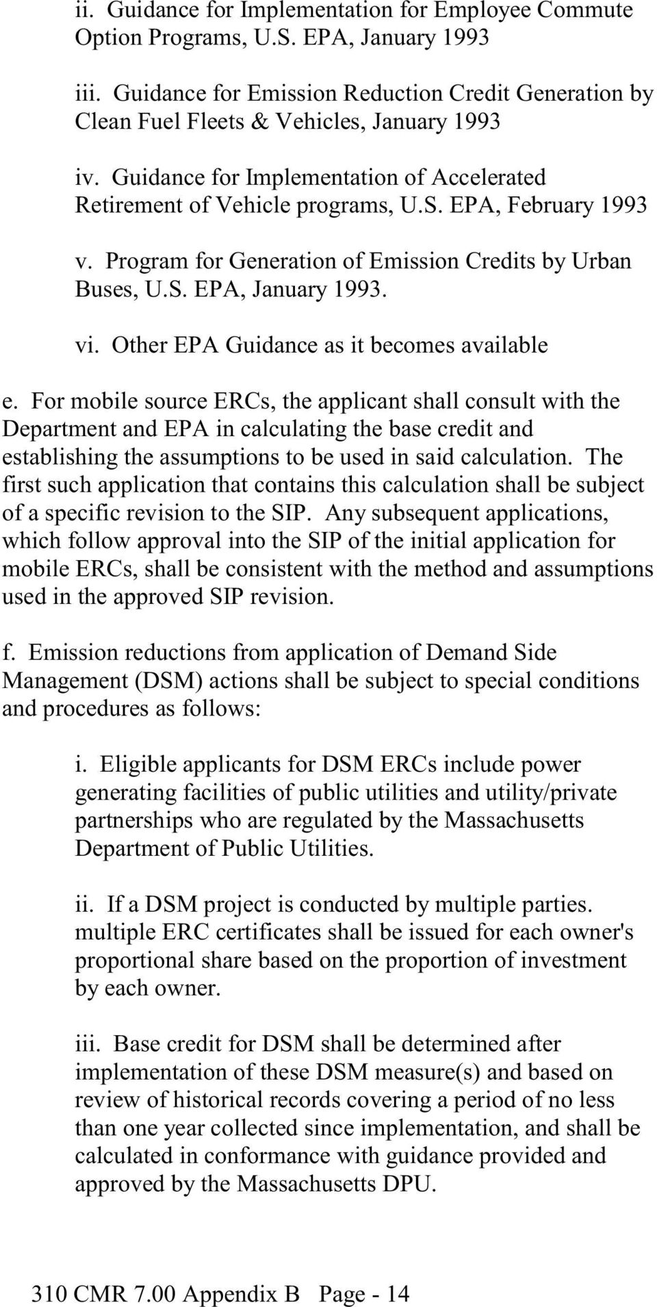 Other EPA Guidance as it becomes available e.
