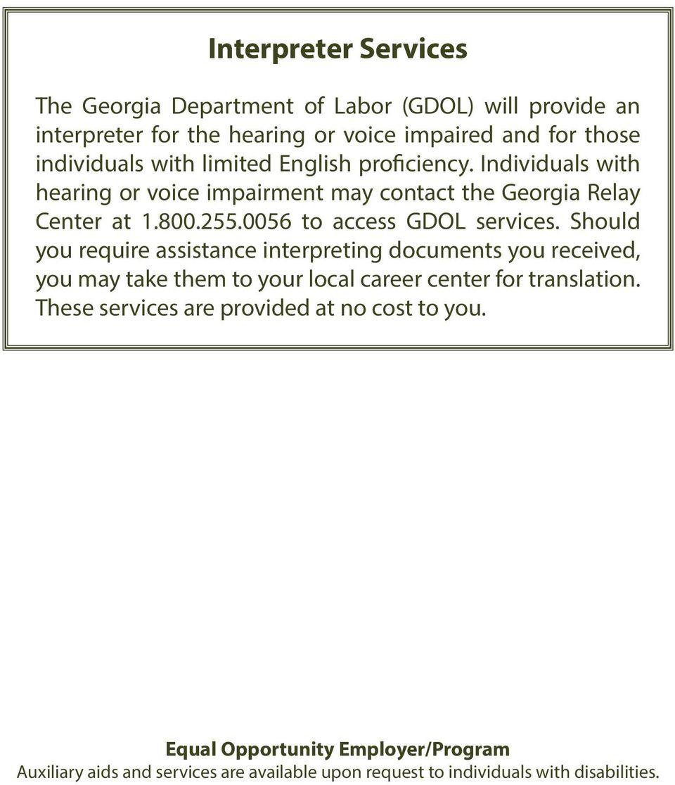 0056 to access GDOL services.