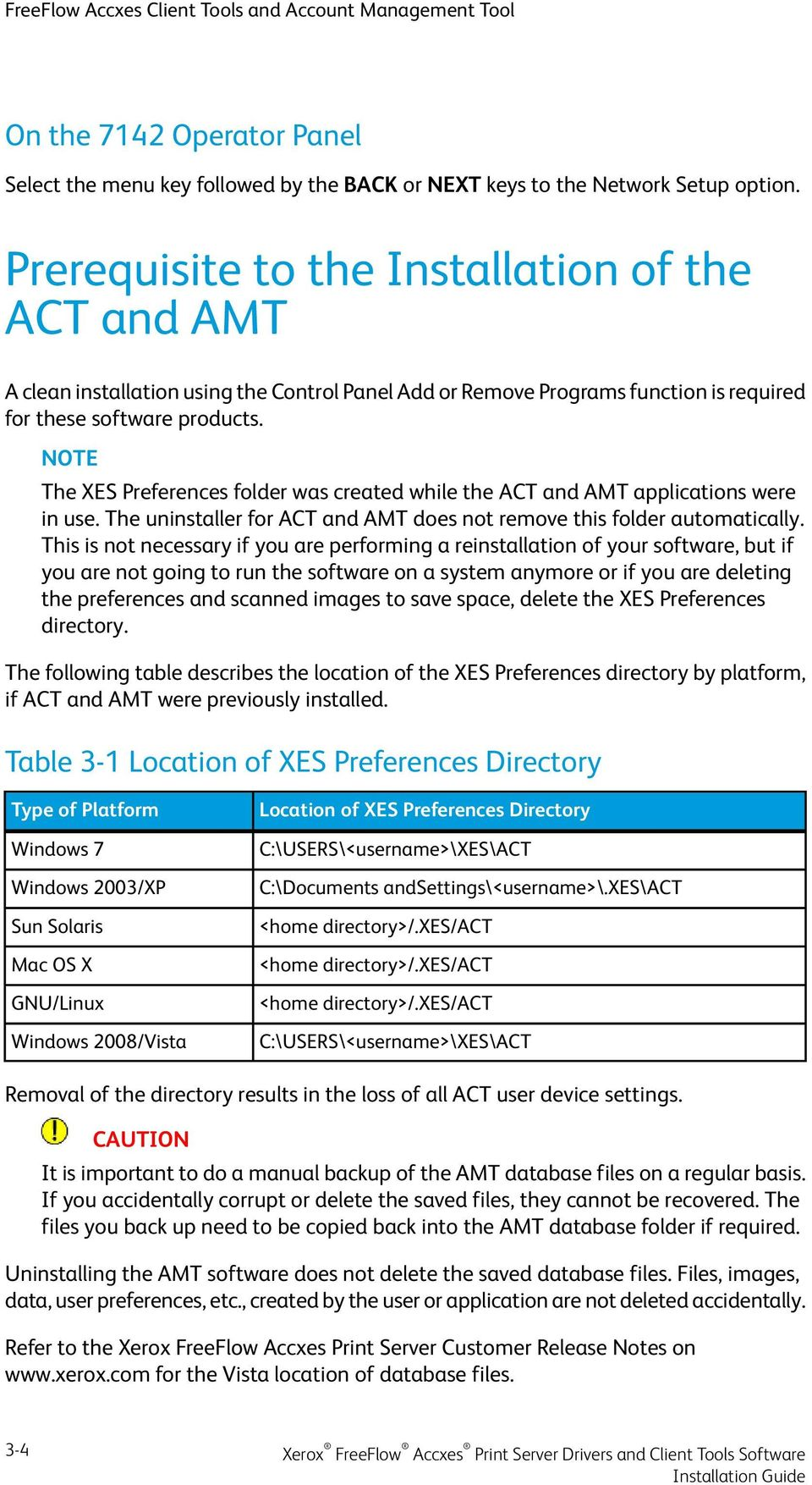 The XES Preferences folder was created while the ACT and AMT applications were in use. The uninstaller for ACT and AMT does not remove this folder automatically.