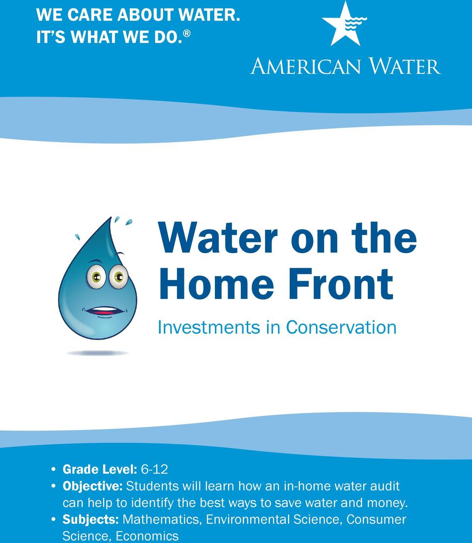learn how an in-home water audit can help to identify the best ways