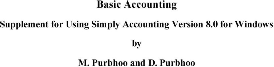 Simply Accounting Version