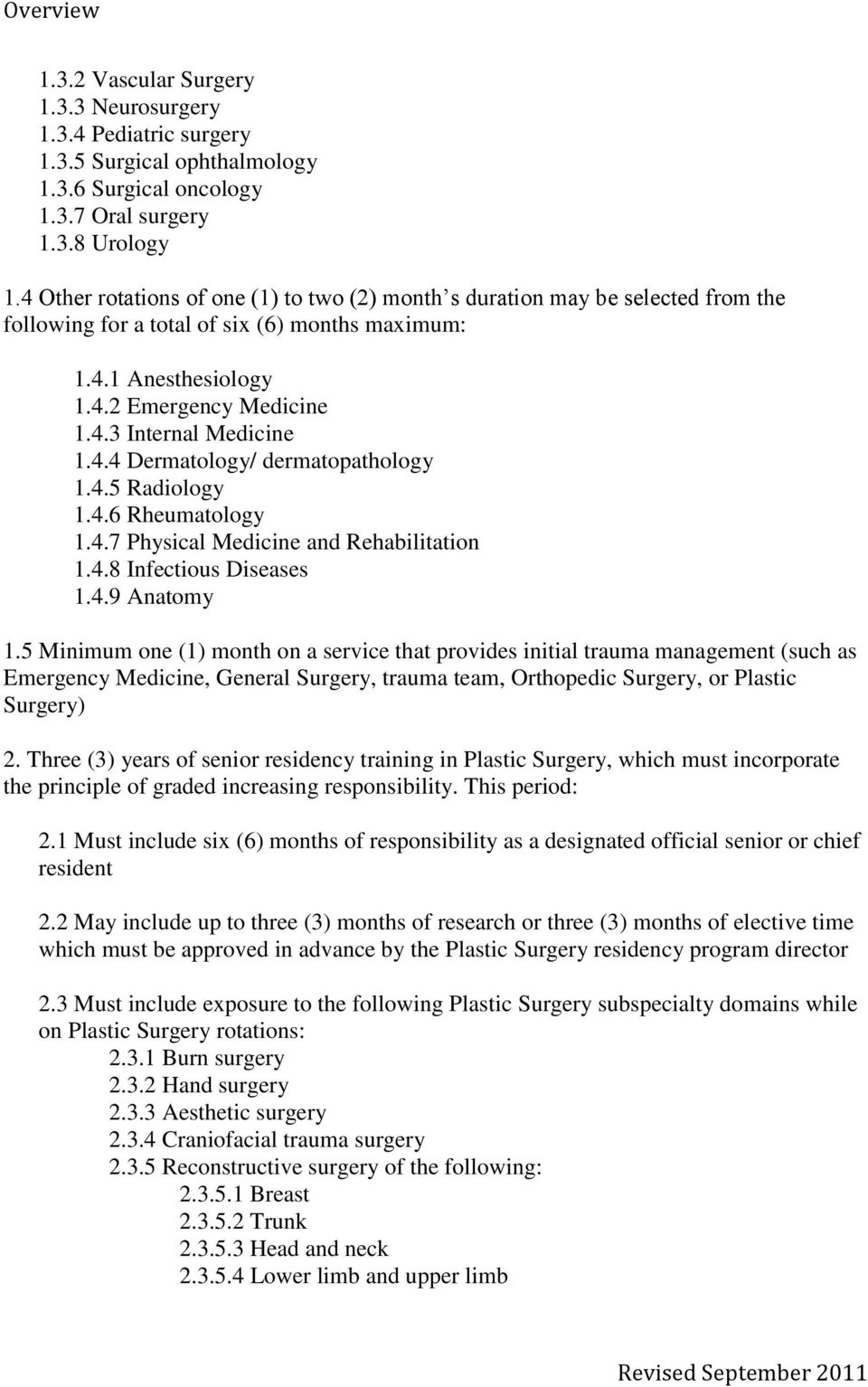 1 Objectives Of Training And Specialty Training Requirements In Plastic Surgery Pdf Free Download