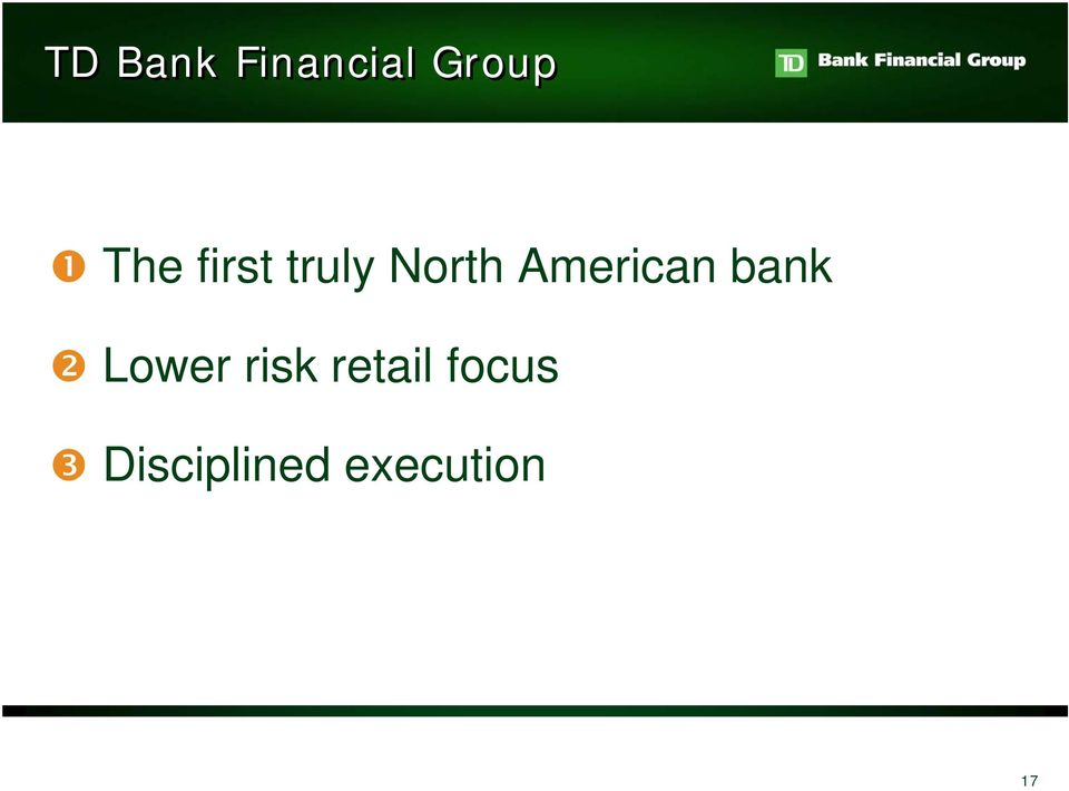 American bank Lower risk