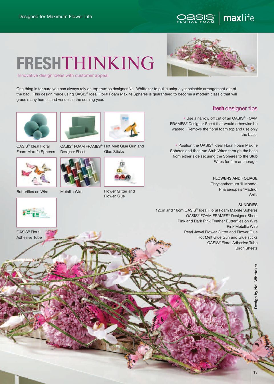 Fine Oasis Wire Floral Arrangement Collection - Wiring Diagram Ideas ...