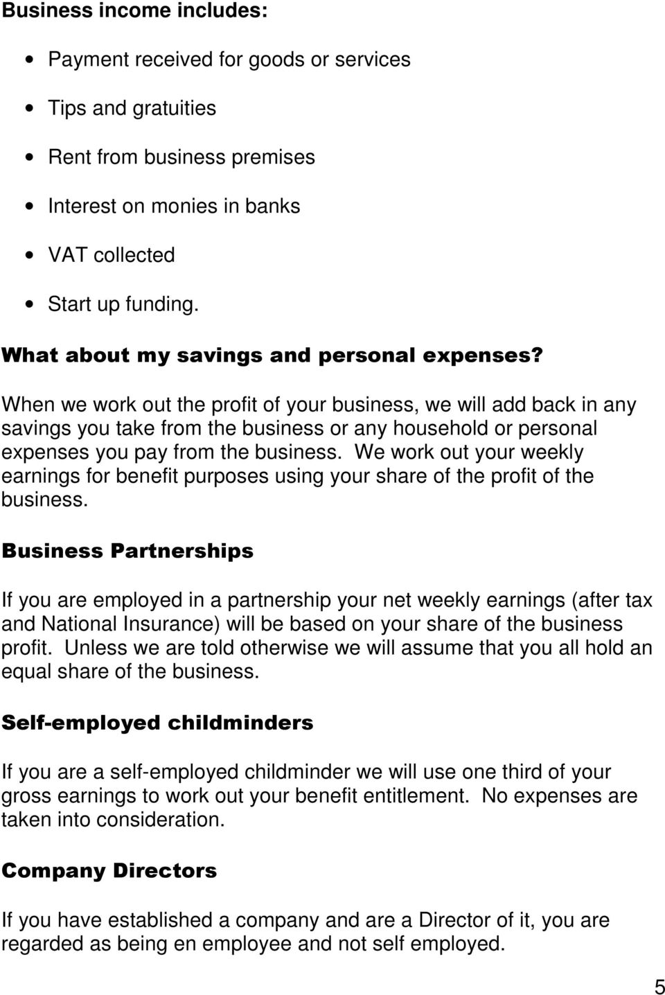 a guide for self employed - pdf