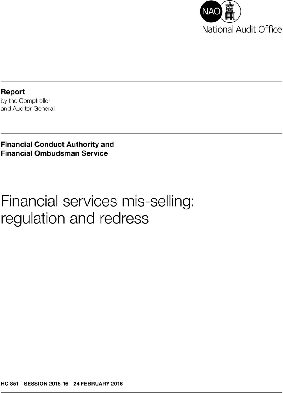 Ombudsman Service Financial services mis-selling: