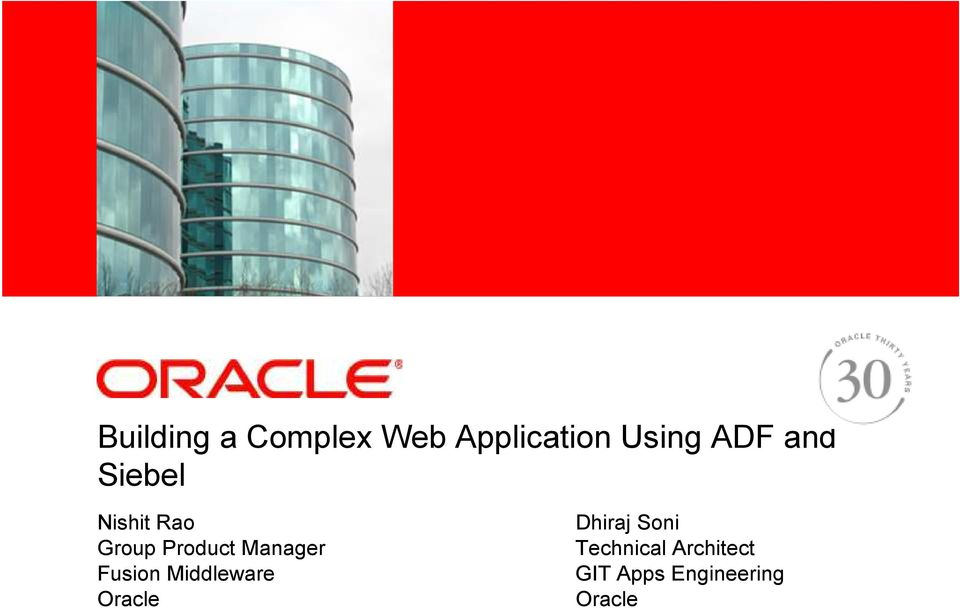 Group Product Manager Fusion Middleware Oracle