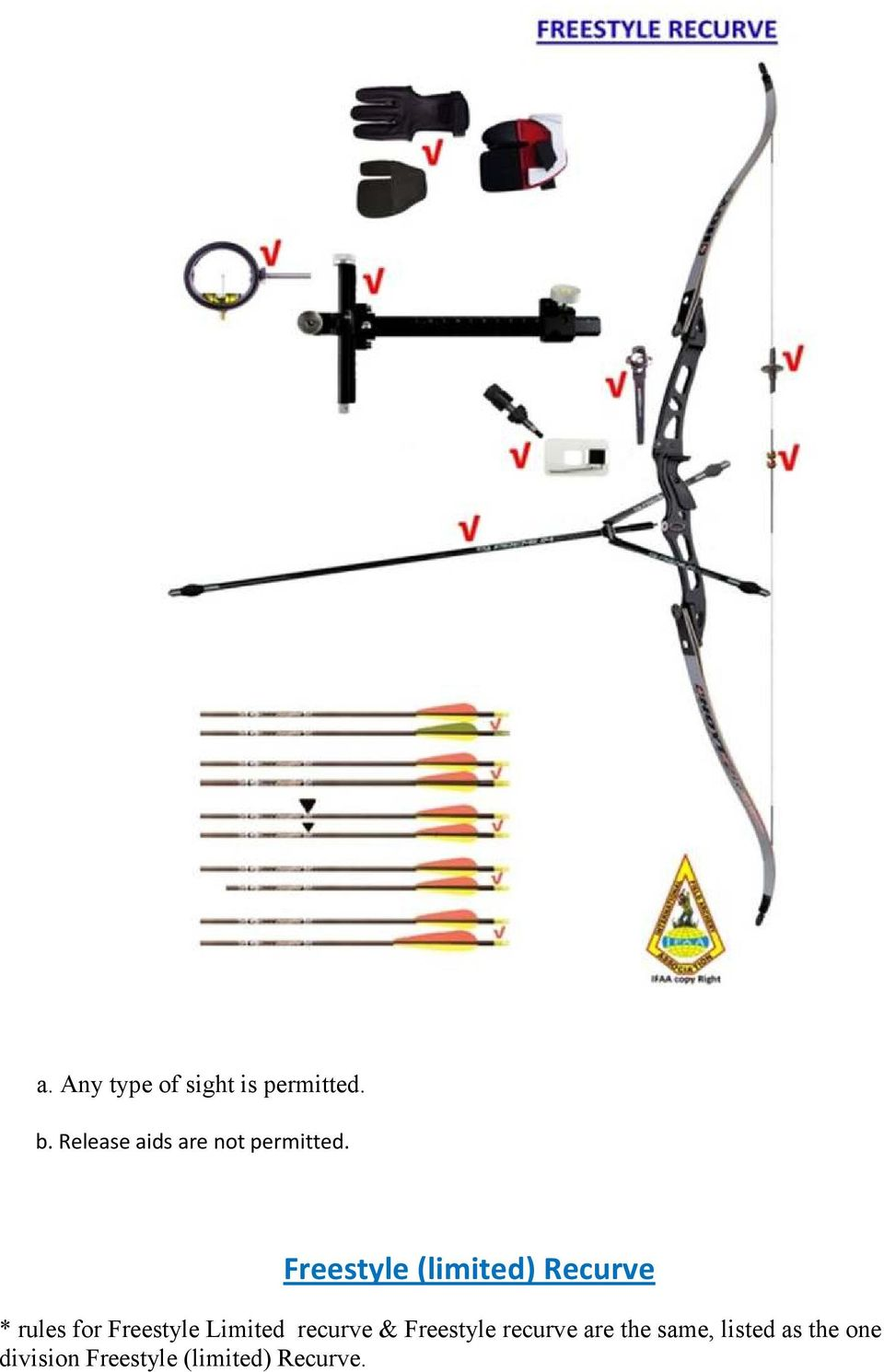 Freestyle (limited) Recurve * rules for Freestyle