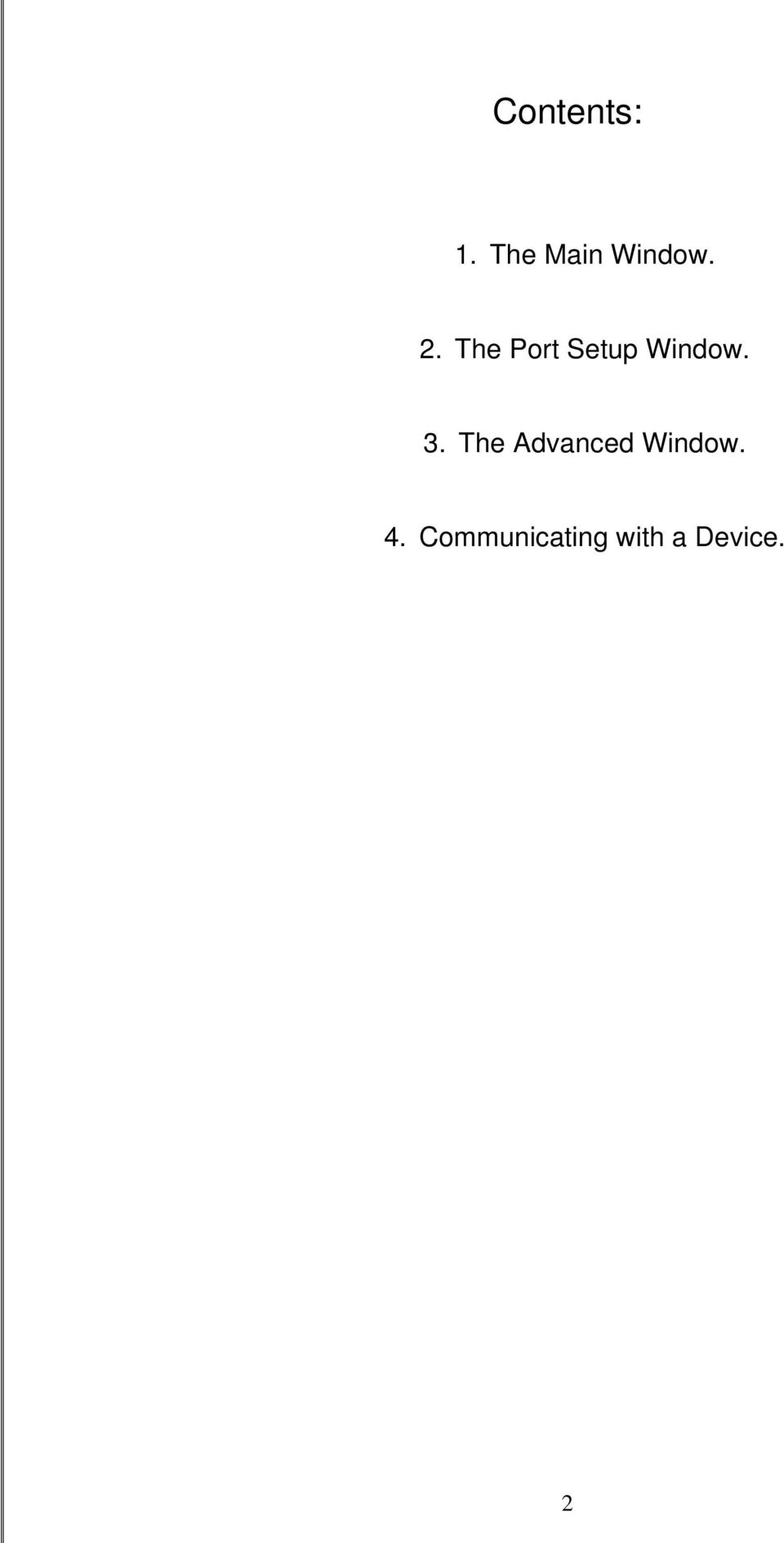 The Advanced Window. 4.