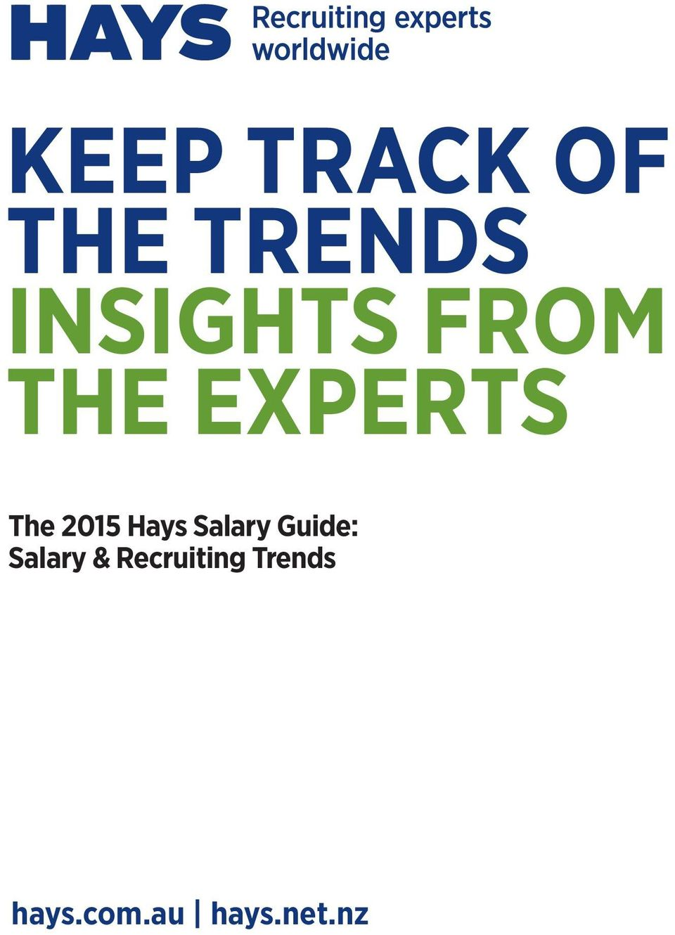 2015 Hays Salary Guide: Salary &