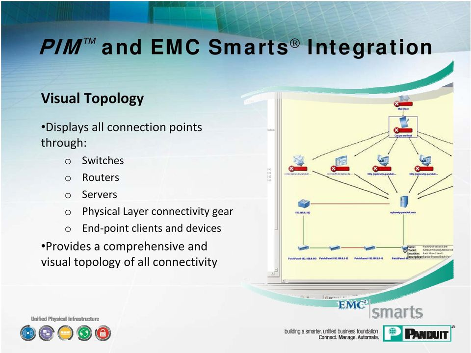Physical Layer connectivity gear o End point clients and