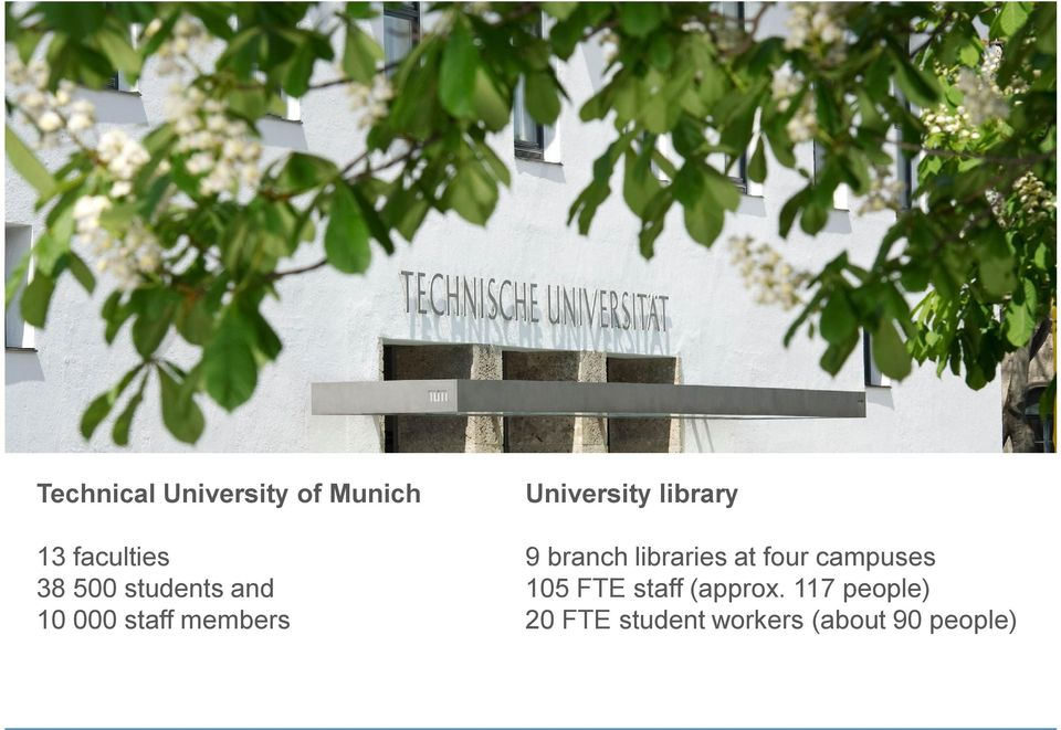 9 branch libraries at four campuses 105 FTE staff