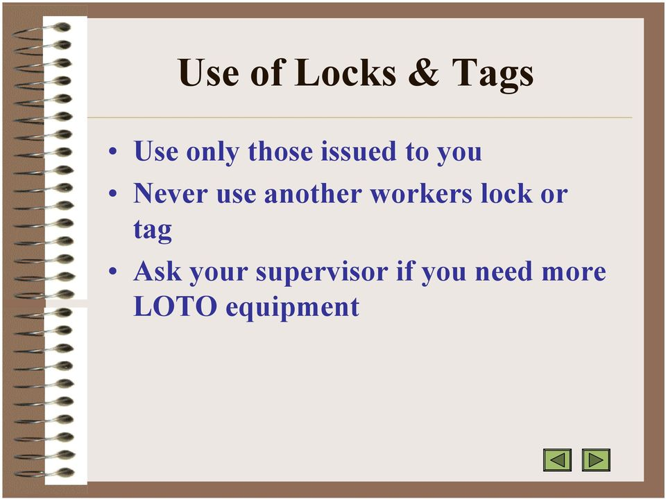 workers lock or tag Ask your