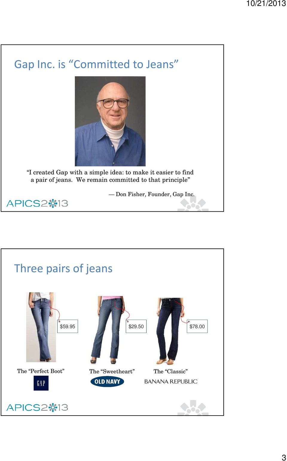 it easier to find a pair of jeans.