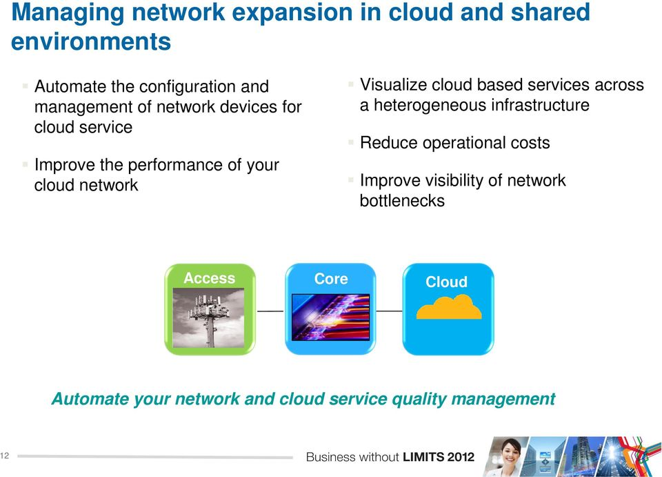 Visualize cloud based services across a heterogeneous infrastructure Reduce operational costs