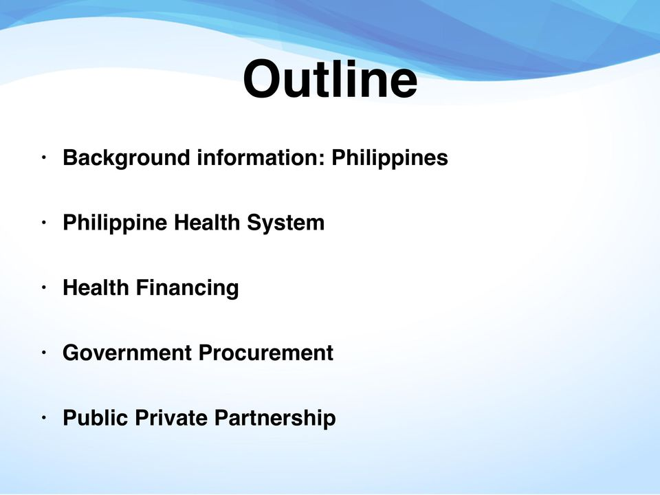 System Health Financing