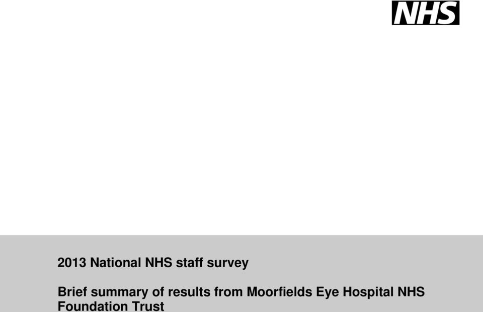 results from Moorfields