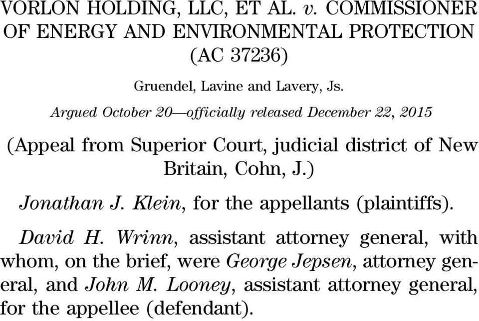 Argued October 20 officially released December 22, 2015 (Appeal from Superior Court, judicial district of New Britain,