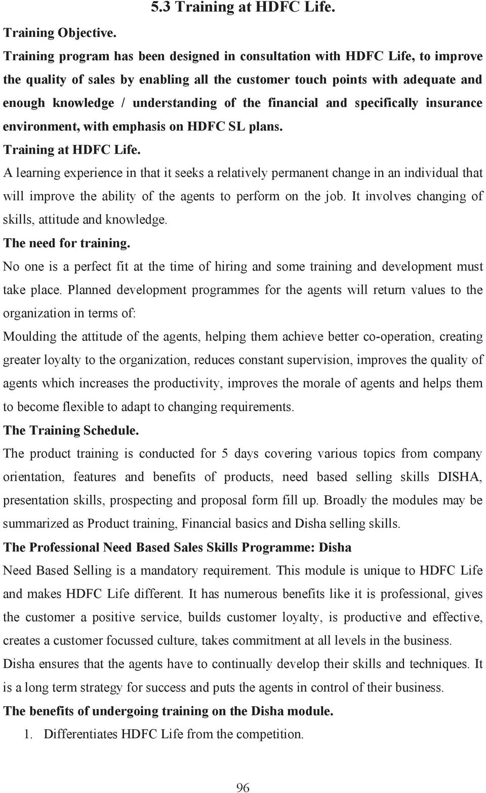 financial and specifically insurance environment, with emphasis on HDFC SL plans. Training at HDFC Life.
