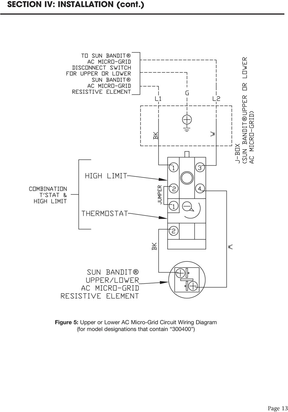 Micro-Grid Circuit Wiring Diagram
