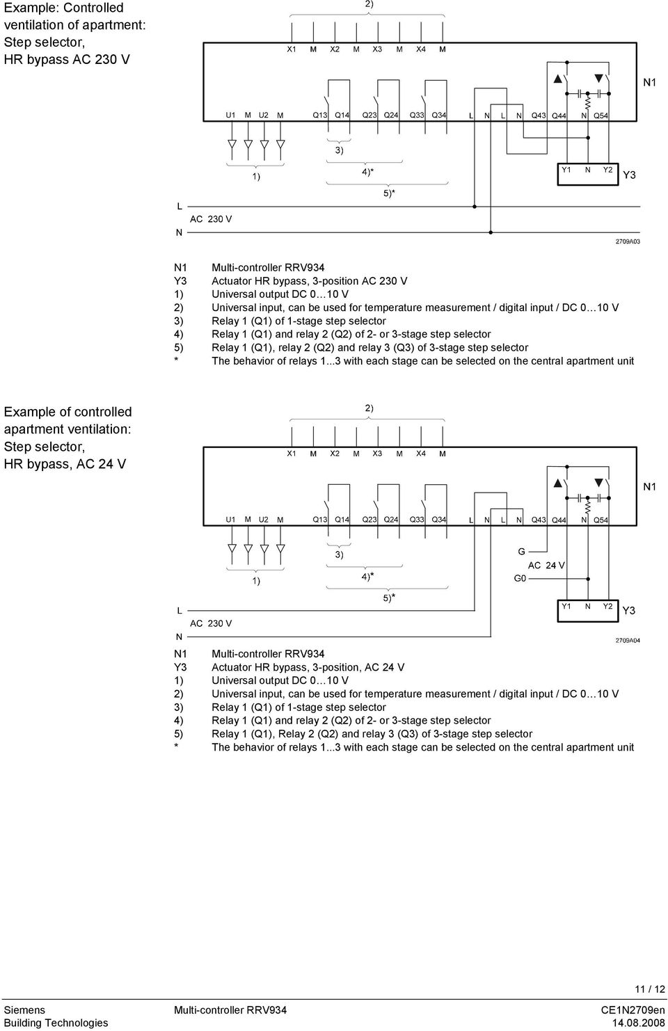 (Q2) and relay 3 (Q3) of 3-stage step selector * The behavior of relays 1.