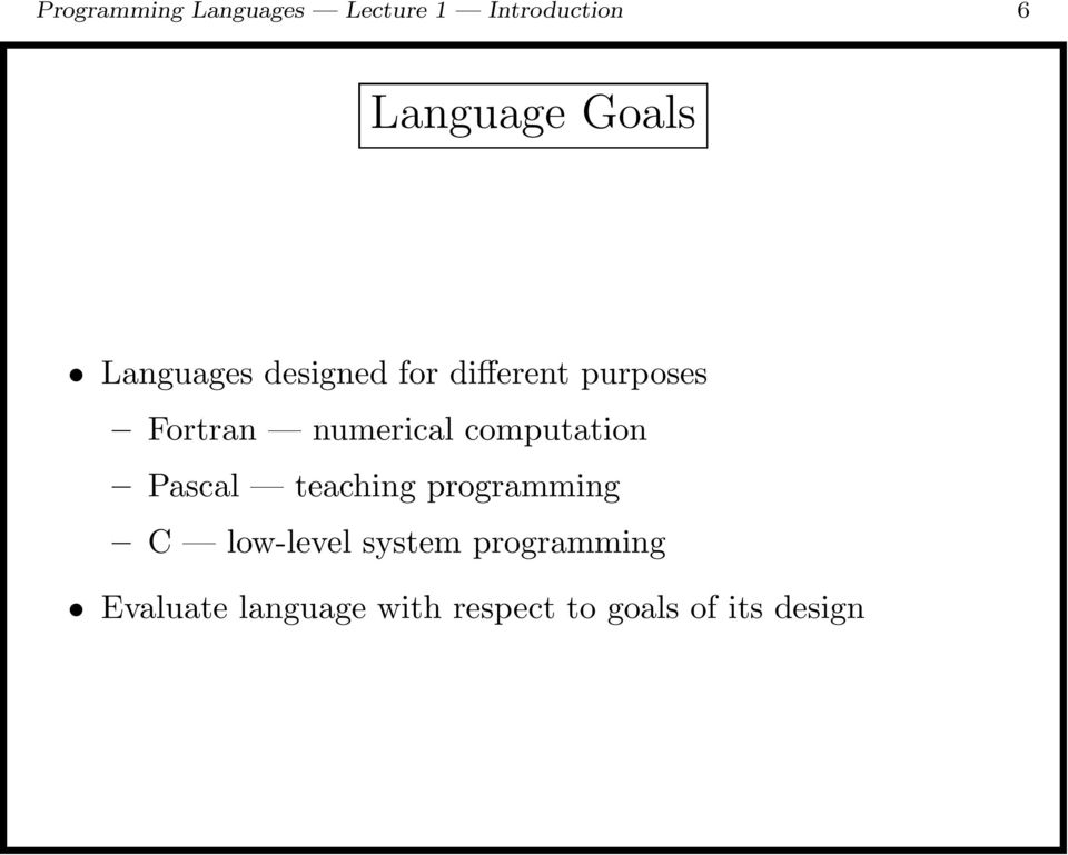 computation Pascal teaching programming C low-level system