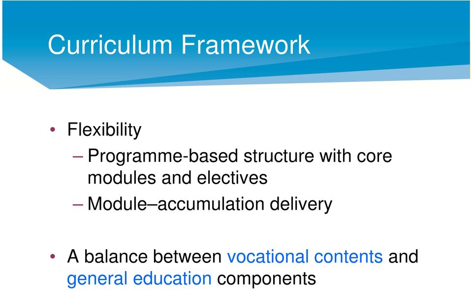 electives Module accumulation delivery A