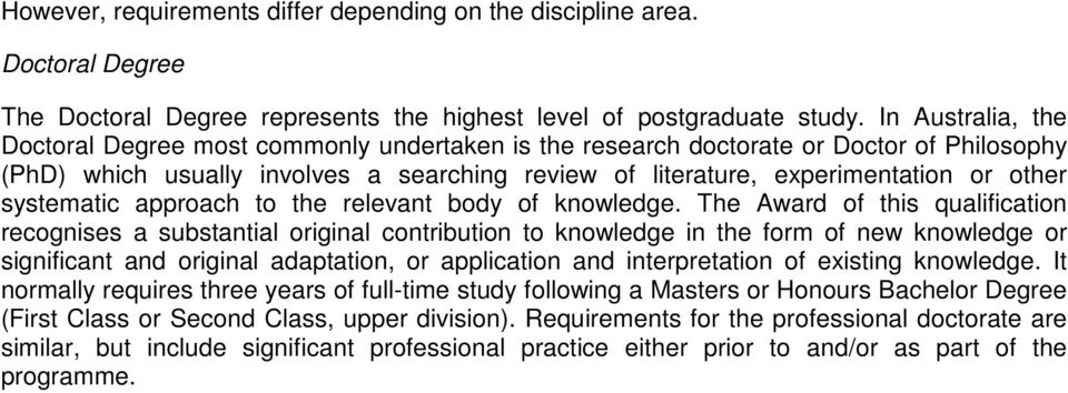systematic approach to the relevant body of knowledge.