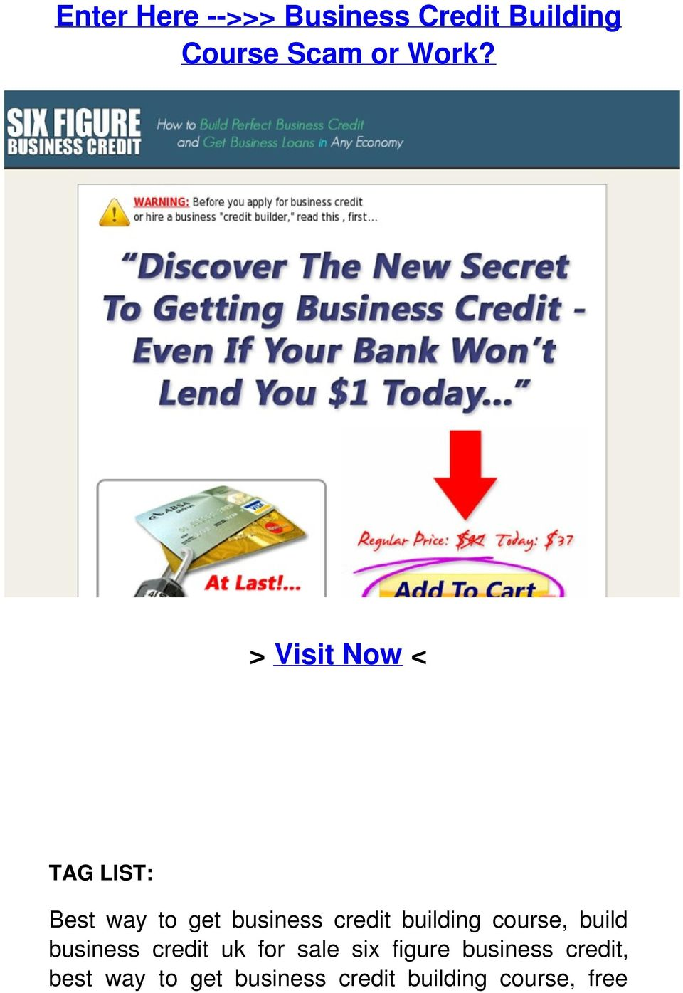 building course, build business credit uk for sale six figure