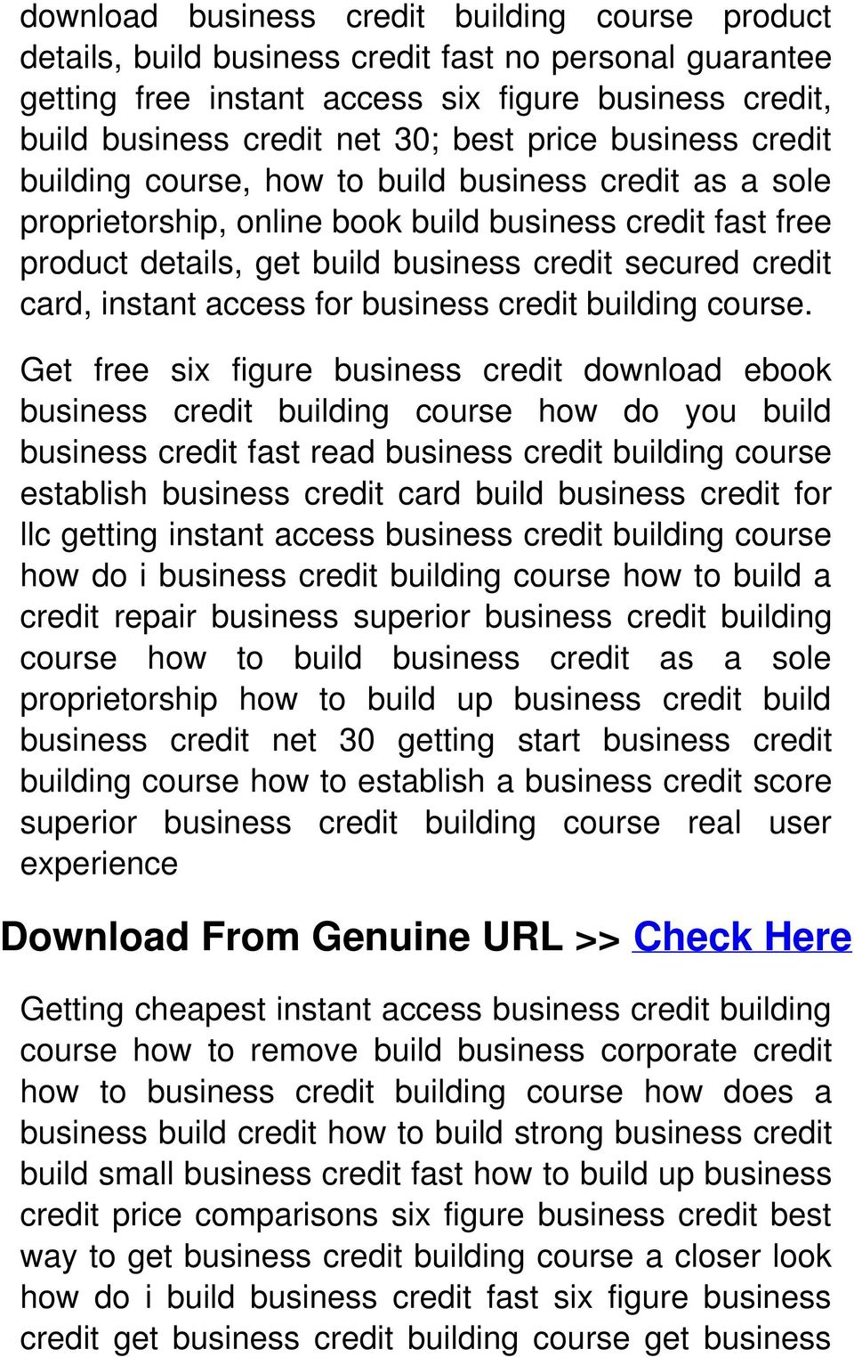 card, instant access for business credit building course.
