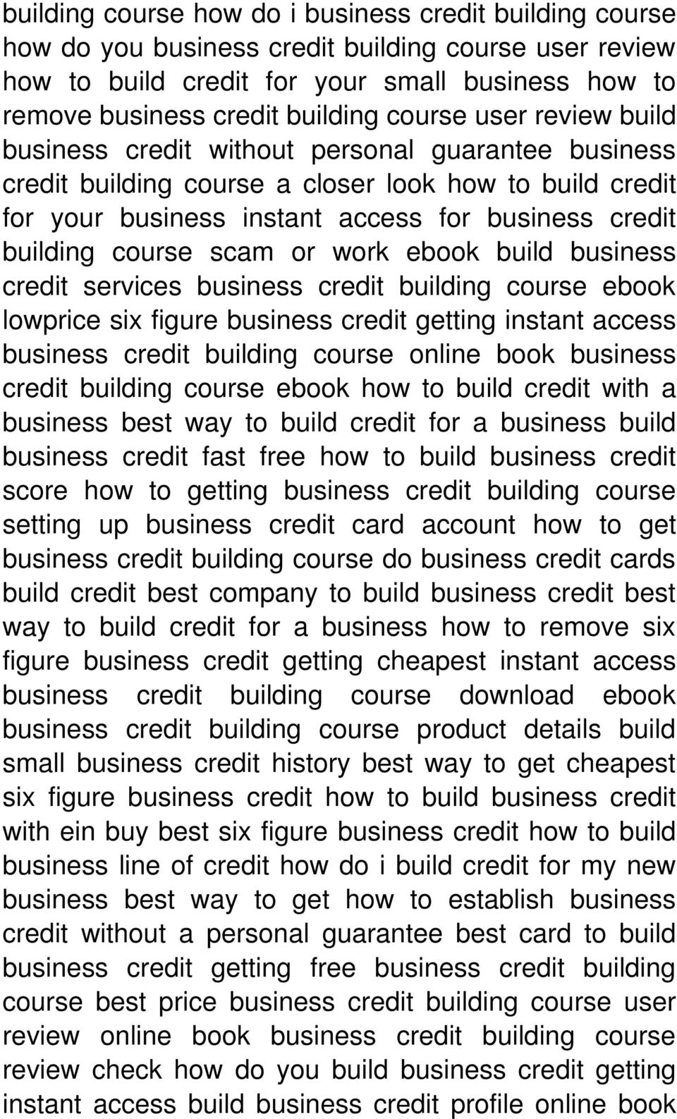 course scam or work ebook build business credit services business credit building course ebook lowprice six figure business credit getting instant access business credit building course online book