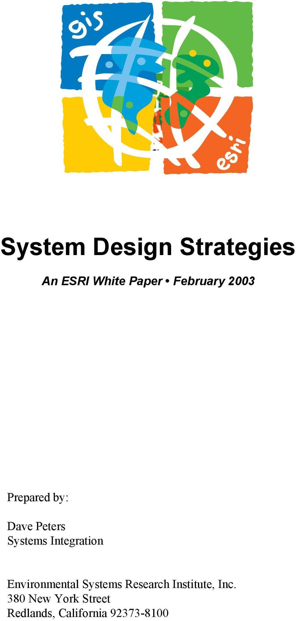 Integration Environmental Systems Research