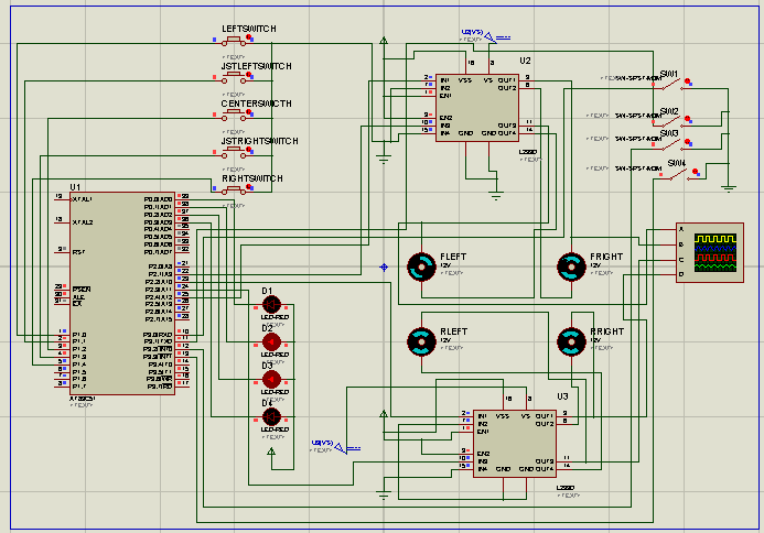 some signal address in form of on and off condition. Similarly there are four switches connected at receiver unit.