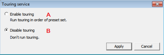 4) Show up the window message as the above if you select A configure service, you can see the message like below.