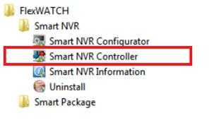 8.1 Smart NVR Controller Start & Close. Smart NVR Controller program is used to start or stop the Smart NVR service. You can start Smart NVR 2.