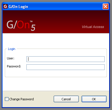 2 Enter Login and Password When the Login screen appears, type your normal Login and Password When