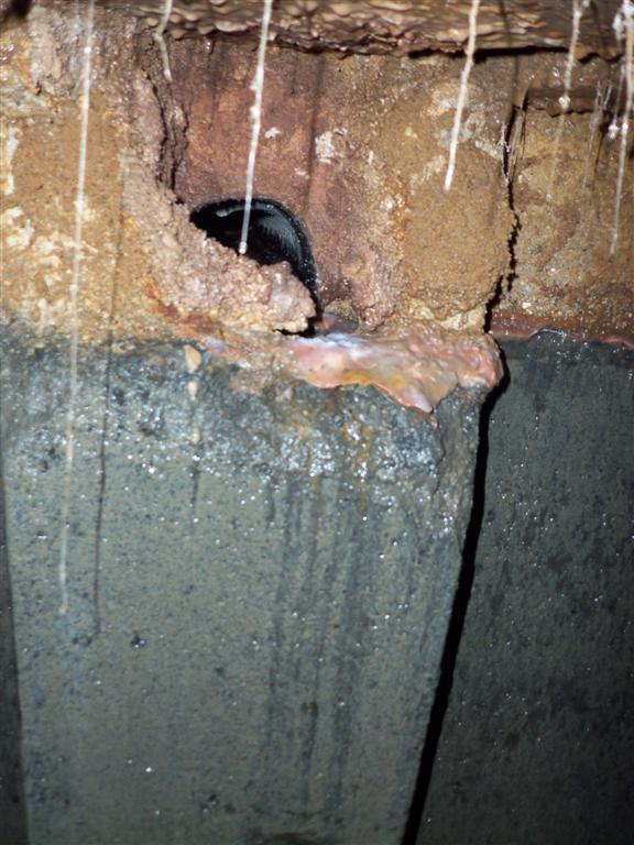 Outlet Devices & Risers The corrosion of the concrete which was part of the