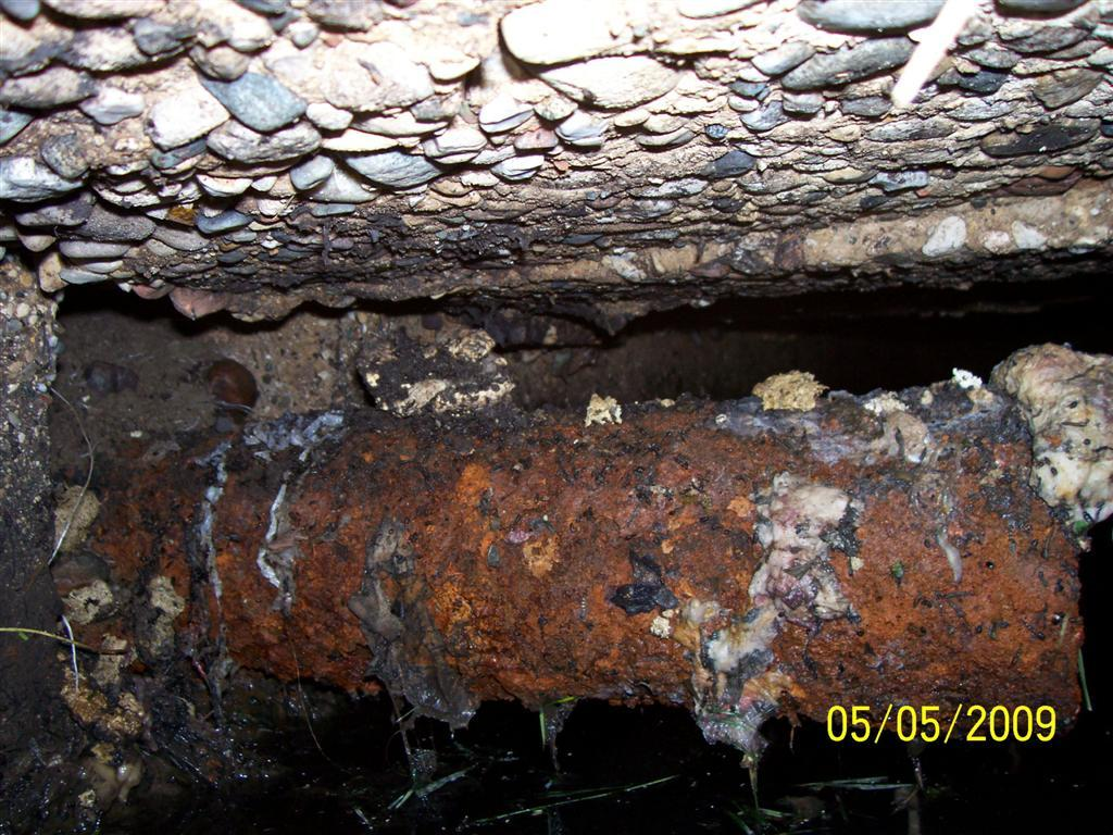 Structural Condition & Safety Inside this septic tank the corrosion of the