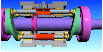198 B. Landvogt et al. Figure 1 Constant displacement pumps PWK-78 (top) and PWK-27. Figure 3 Main elements of PWK pump. Cross section of one chamber, the shaft and steering elements.