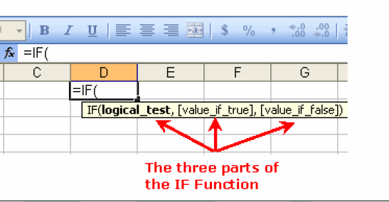 Therefore, as we complete the IF function, we will add two separators 1. One between the logical test and the value if true arguments 2. One between the value if true and the value if false arguments.