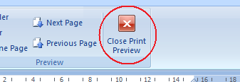 4.7.2.4 Preview a worksheet Print preview lets you see a preview of your worksheet before actually printing it. Click on the Office button.