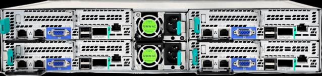 EMC EVO:RAIL Hardware Servers Already used in ECS Dual CPU Intel 4 server nodes in 2U Provide disk